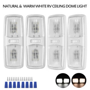 4pcs Led Rv Ceiling Dome Light Fixture Natural warm White For Rv Trailer Camper