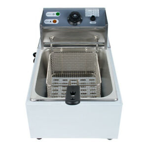 Us Electric Countertop Deep Fryer Commercial Basket Fryers Restaurant Use Safety