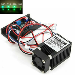 Focusable 520nm 100mw Grass Green Laser Diode Module Dc12v Fan Cool W ttl0 20khz
