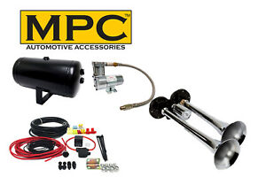 Dual Truck Car Air Horn Kit New Loud Easy To Fit Horns
