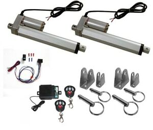 2 Heavy Duty Linear Actuator 12v 6 Stroke Includes Remote Switch