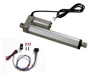 6 Inch Linear Actuator Kit 12 v W 225 Lbs Max Load includes Wiring Switch Kit
