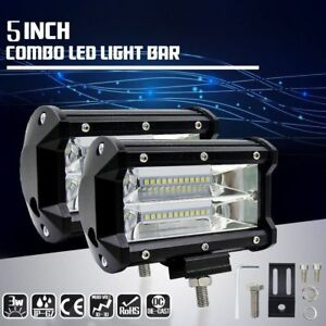 5 Inch 168w Led Work Light Bar Flood Combo Pods Driving Off Road Truck 4wd 12v