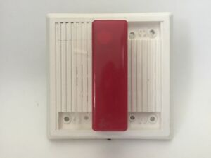 Wheelock Mt 24 rh Fire Alarm Alert Signaling Device With Red Strobe