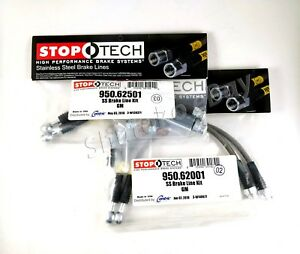 Stoptech Stainless Steel Front Rear Brake Lines For 89 92 Chevrolet Camaro