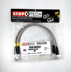 Stoptech Stainless Braided Rear Brake Lines For 02 06 Chevrolet Avalanche 2500