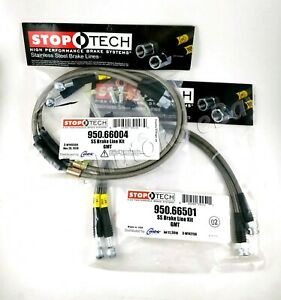 Stoptech Stainless Front Rear Brake Lines For 02 06 Chevrolet Avalanche 2500