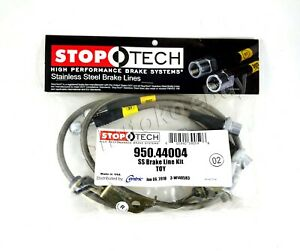 Stoptech Stainless Steel Ss Braided Front Brake Lines For 11 16 Scion Tc