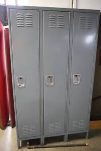 3 Door Single Tier Metal Lockers