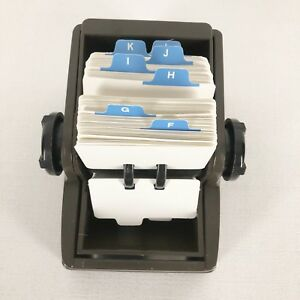Rolodex R 202 Rotary Card File 500 Cards 1 75 X 2 75 Address Filing Brown