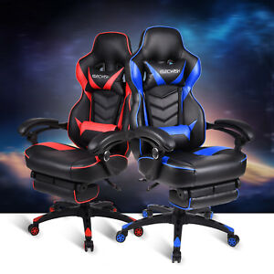 High Back Ergonomic Gaming Chair Racing Style Recliner Office Computer Desk Seat