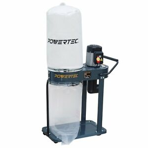 Powertec Dc1080 1 Hp Dust Collector