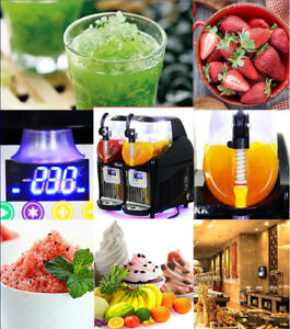2 2 5l 2 Tank Frozen Drink Slush Slushy Making Machine Juice Smoothie Ice Maker