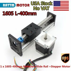 Usa 1605 400mm Ballscrew Linear Slide Stroke Stage Actuator Z Axis stepper Motor