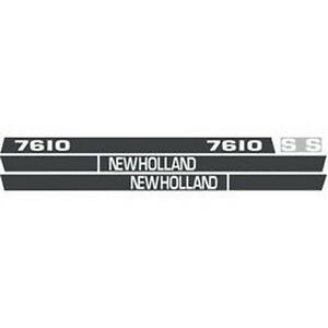 New 7610 New Holland Tractor Hood Decal Kit 7610s High Quality Vinyl Hood Decal