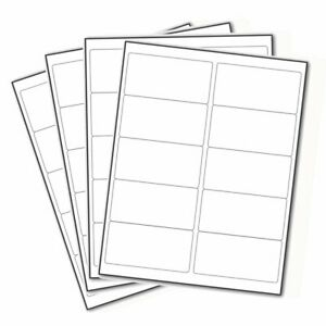 10000 Mailing Shipping Labels 1000 Sheets Address Labels 10up 2 x4 10 Per Sheet