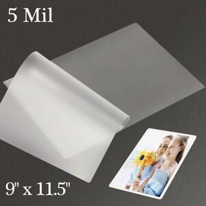 500 9 x11 5 Thermal Letter Laminating Pouches 5 Mil Laminator Letter Size Sheet