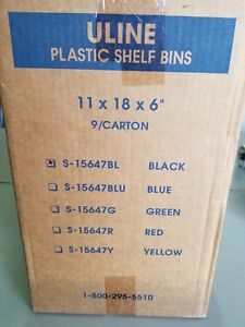 Plastic Shelf Bins 11 X 18 X 6 Black Uline S 15647bl 9 Per Case