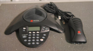 Polycom Soundstation2 Conference Phone Wall Module Pre owned Good working