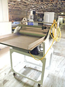Fm Stewart 24 Adjustable Sheeter Bakery Crust Pizza Dough Roller Bread Molder