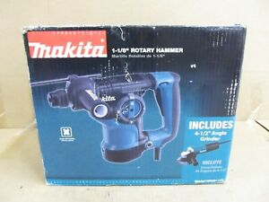 Makita Tools 1 1 8 Sds plus Bit Rotary Hammer W 4 1 2 Angle Grinder