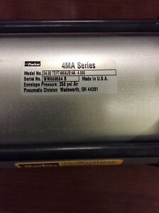 Parker 4ma Series Double acting Pneumatic Cylinder Envelope Pressure 250 Psi Air