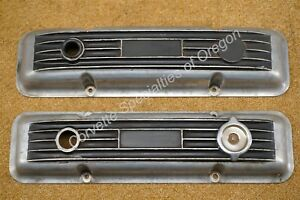 Vintage 67 68 69 70 Chevrolet 283 327 Finned Aluminum Valve Covers Hot Rat Rod