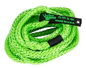 Voodoo Kinetic Recovery Rope 3 4 X 30 24 000 Rated Free Bag Green 1300009