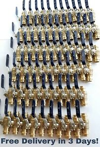 lot Of 30 3 4 Propress Brass Ball Valves Press Brass Ball Valve Lead Free