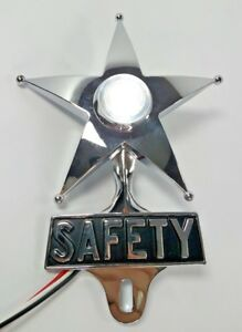 Safety Star License Plate Topper Dual Function White Led Vtg Car Accessory