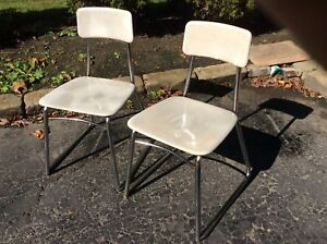 2 Same Vintage Heywood Wakefield Adult School Chairs Fair Condition
