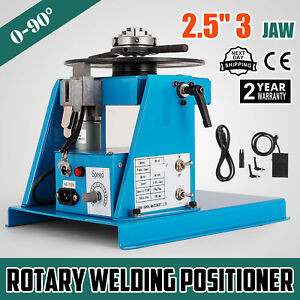 10kg Rotary Welding Positioner Turntable Table 2 5 3 Jaw Lathe Chuck 110v