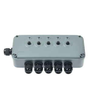 Remote Controlled 5 Gang Switch Box Ip66 Weatherproof Outdoor Waterproof 15a