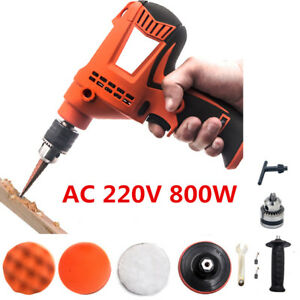 Multifunction 220v Car Polishing Machine Buffer W Drill Bit Polishing Pads Disc