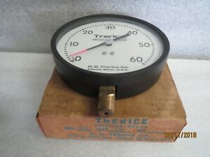 Trerice 4 1 2 pressure gauge no 601 0 to 60 psi new Lot Of 2