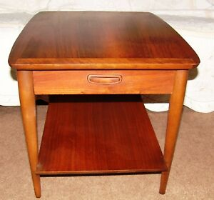 Vintage Lane Mid Century Modern Lane End Table Nightstand With Drawer
