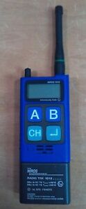 Niros Handheld Radio Trx1012 Tested working Can t Guarantee Battery Blue