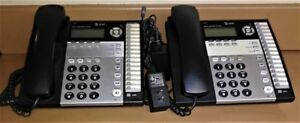 Lot Of 2 At t 1040 4 line Small Business System Office Telephones
