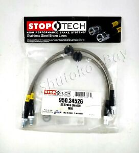 Stoptech Stainless Steel Braided Rear Brake Lines For 07 15 Mini Cooper