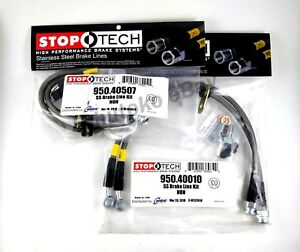 Stoptech Stainless Steel Braided Front Rear Brake Lines For 97 01 Honda Prelude