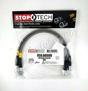 Stoptech Ss Braided Rear Brake Lines For 2005 Chevrolet Silverado Quadrasteer