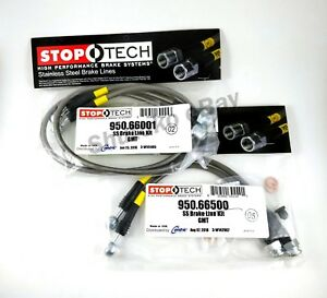 Stoptech Stainless Braided Front Rear Brake Lines For 00 06 Chevrolet Suburban