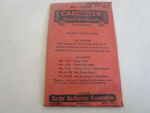 1941 51 Chevy Nash Rambler Carter Carburetor Rebuild Kit 208a Original Nos