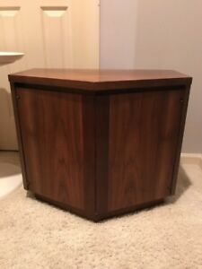 Mid Century Modern Small Wood Cabinet End Table Nightstand