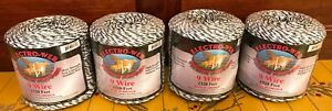 Electro web Premium Polywire 1320 9 Wire Stainless Poly Electric Fence