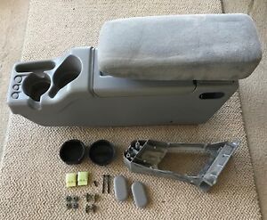 Ford Explorer Ranger Center Console Armrest Storage Cup Holder Grey