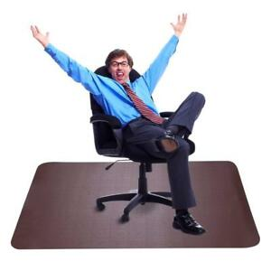 Dark Cherry Office Chair Mat And Under Computer Desk Pad For Hardwood Floor And