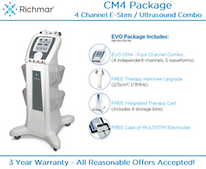 Richmar Winner Cm4 Evo Ultrasound Stim 4 Channel W Cart Usa Made 410 012pk