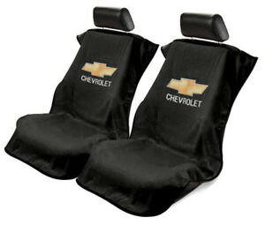 Pair 2 Universal Black Seat Armour Cover Protectors For Chevrolet Cars Trucks