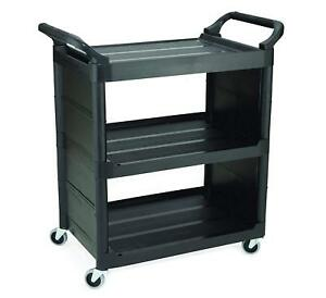 Rubbermaid Commercial Products Fg342100bla Utility Cart Black